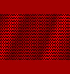 Red metal perforated background abstract vector