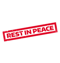 rest in peace rubber stamp vector image