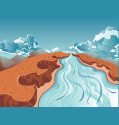 river in mountain vector image