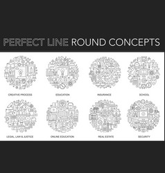 Round outline concept of creative process vector