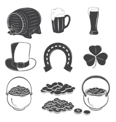 Saint Patricks Day elements set Detailed elements vector image
