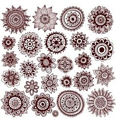 Set beautiful ornaments vector