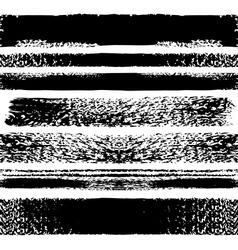 Set of grunge seamless brushes vector image
