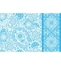 Set of seamless pattern based on traditional Asian vector image