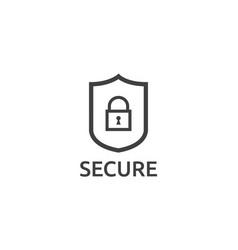 shield line icon internet vpn security concept vector image