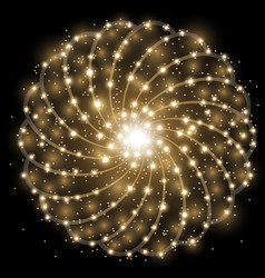 Shining stars with star dust golden color vector