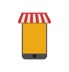 shopping online smartphone gadget vector image vector image