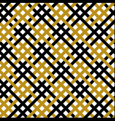 Simple gold black line seamless pattern vector