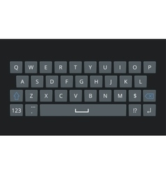 Smartphone keyboard mobile phone keypad vector image