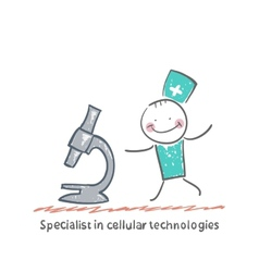 Specialist in cellular technologies looks looks vector
