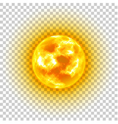Sun transparent background heavenly body vector