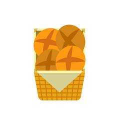 tasty buns fresh bakery and pastry products vector image