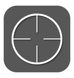 The crosshair icon Search symbol Flat vector image