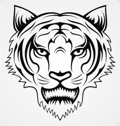 Tiger Head Tattoo vector