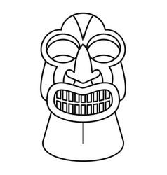 Tiki idol icon outline style vector