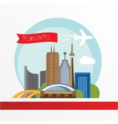 Toronto detailed silhouette Trendy vector image