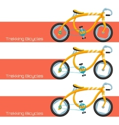 Trekking Bicycles One vector image