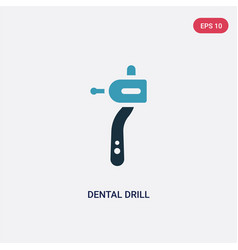 Two color dental drill icon from medical concept vector