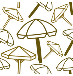 umbrella beach pattern seamless design template vector image