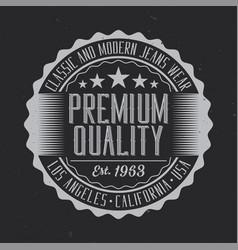 vintage label design vector image
