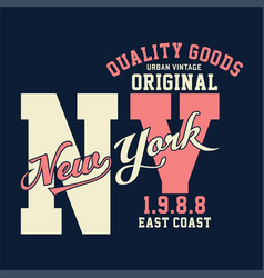 vintage original new york vector image