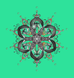 Weather ice collection xmas frost snow flake vector