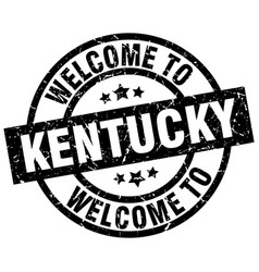 welcome to kentucky black stamp vector image