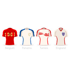 World cup group g team uniform vector