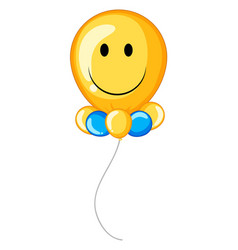 Yellow balloon with happy face vector