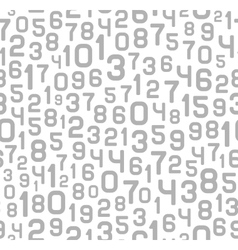 Abstract Background with Numbers vector image vector image
