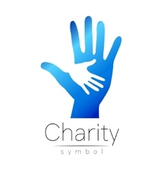 Symbol of Charity Sign hand vector image vector image