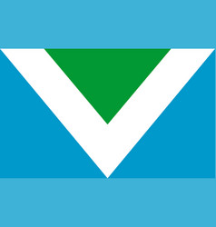vegan flag vector image vector image