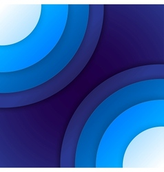 Abstract blue paper circles background vector image vector image