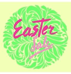 Easter sale flyer vector