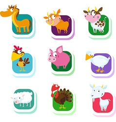 farm animals - icon vector image vector image