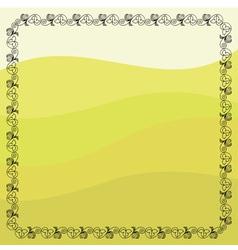 Grape vines frame vector image
