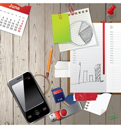 office diary vector image vector image
