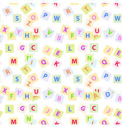seamless pattern with english alphabet letters vector image