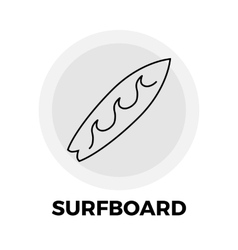 Surfboard Line Icon vector image