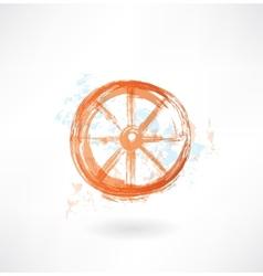 Wheel grunge icon vector image vector image
