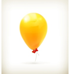 Yellow toy balloon vector image vector image