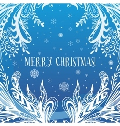 Abstract Blue Christmas Card vector image vector image