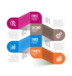 Business process abstract infographics template vector image vector image