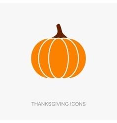 Pumpkin icon Harvest Thanksgiving vector image