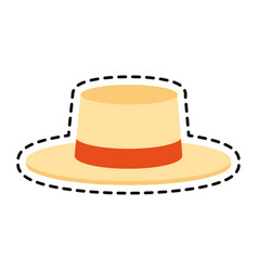 summer hat icon image vector image