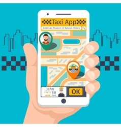 Taxi mobile app template set vector image vector image
