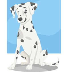 dalmatian dog cartoon vector image vector image