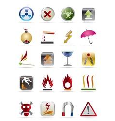 dangers signs vector image