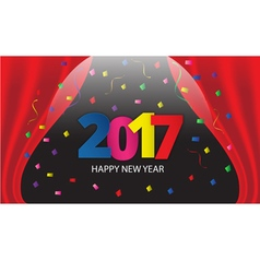 Happy New Year 2017 paper type vector image vector image