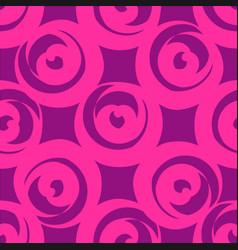 Pink circle shaped hearts vector